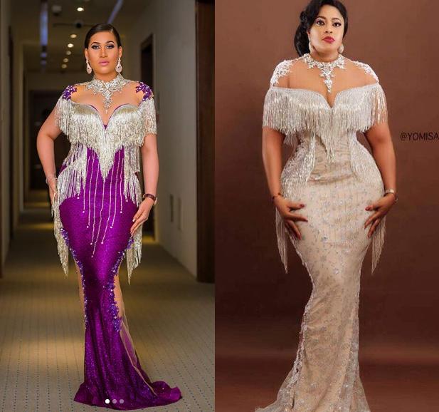 Battle of the fringe dress-Caroline Danjuma vs Omobutty