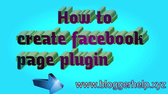 How to add Facebook page plugin in Blogger
