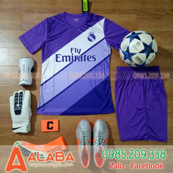 Áo Real Madrid màu tím đẹp