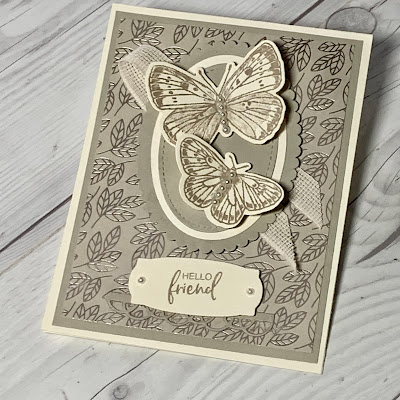Butterfly Card idea using the Butterfly Brilliance from Stampin' Up!