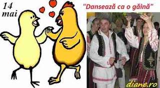 """14 mai: Ziua """"Dansează ca o găină"""""""