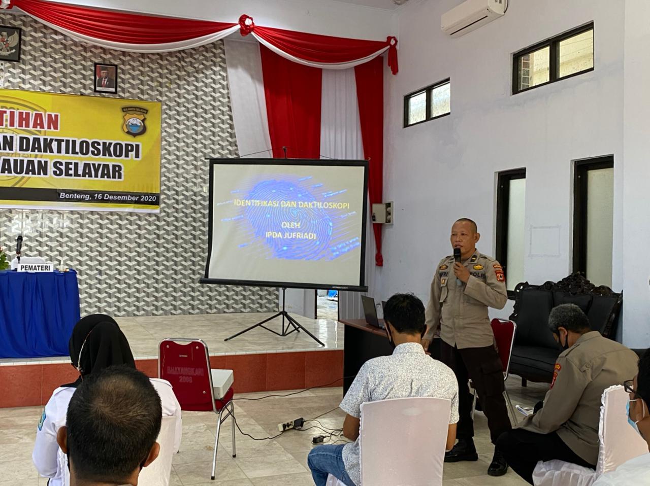 Polres Kepulauan Selayar Gelar Pelatihan Identifikasi dan Daktiloskopi Sidik Jari
