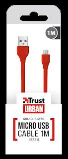 TRUST CAVO PIATTO MICRO USB 1 METRI 20137