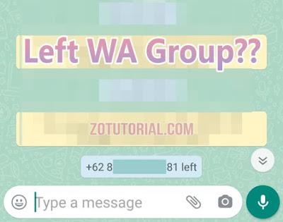 3 Cara Keluar dari Grup WhatsApp Tanpa Diketahui by zotutorial.com