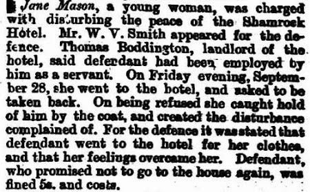 Newspaper article about Jane Mason appearance in court