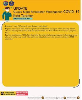 Press Release COVID-19 Tarakan 15 Mei 2020 - Tarakan Info