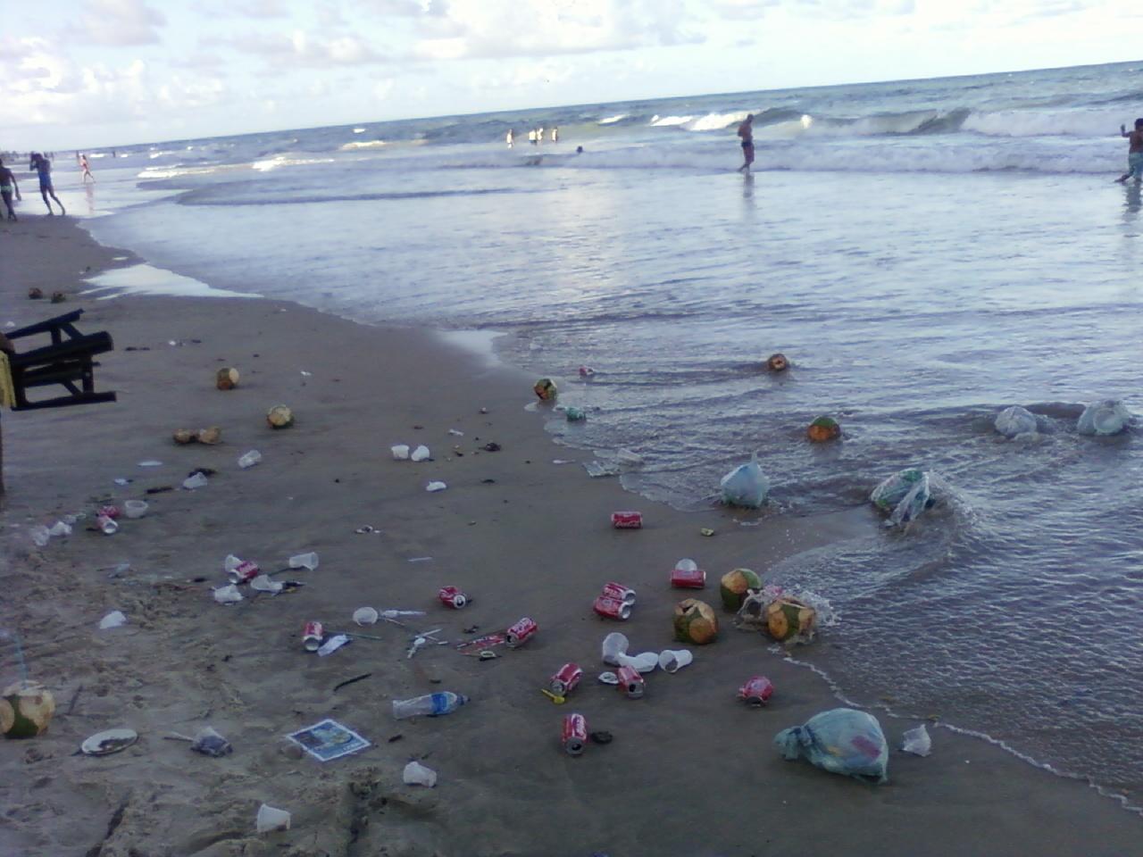 sujar a praia é um grande erro