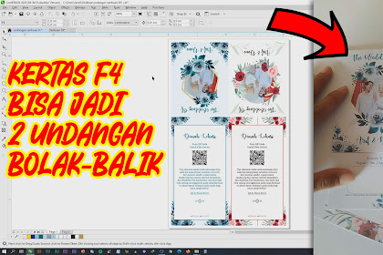 Download Gratis Desain Undangan F4 Bisa Jadi 2 Undangan Bolak-balik