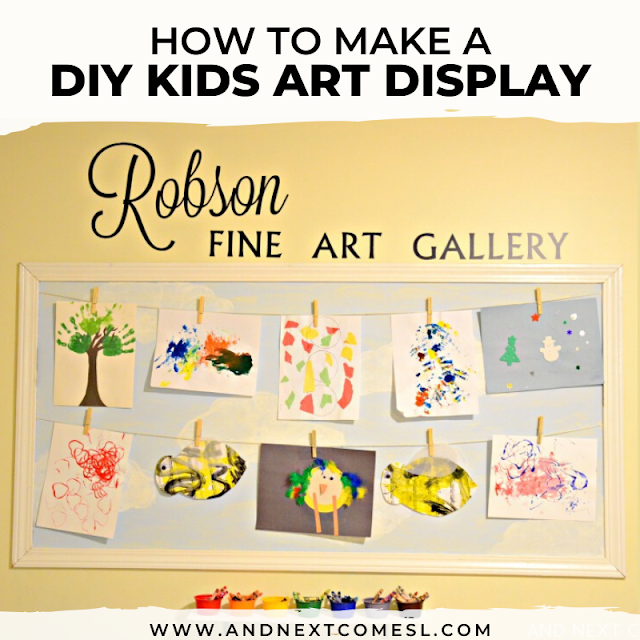Display children's artwork with this DIY kids art display
