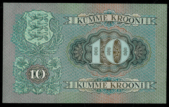 World money collection 10 Estonian Krooni banknote