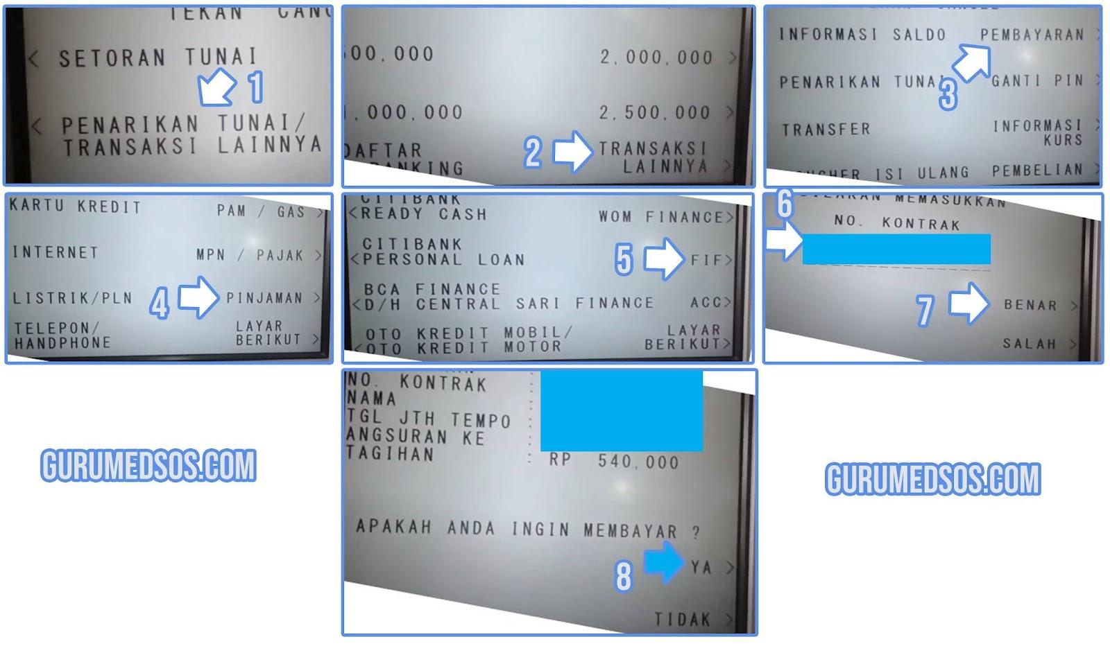 Cara Bayar FIF Lewat ATM BCA