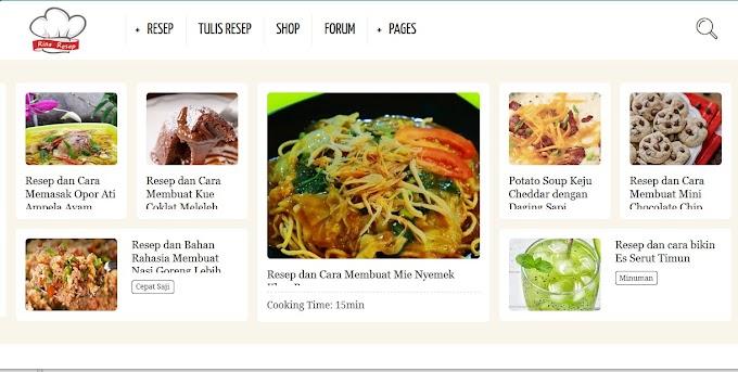 Resep Masakan Rinaresep.com, Website Kumpulan Resep Terbaru untuk Para Ibu