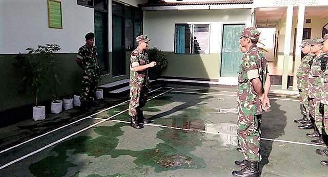 Koramil Purwokerto Juga Persiapkan Anggota Untuk Penutupan TMMD