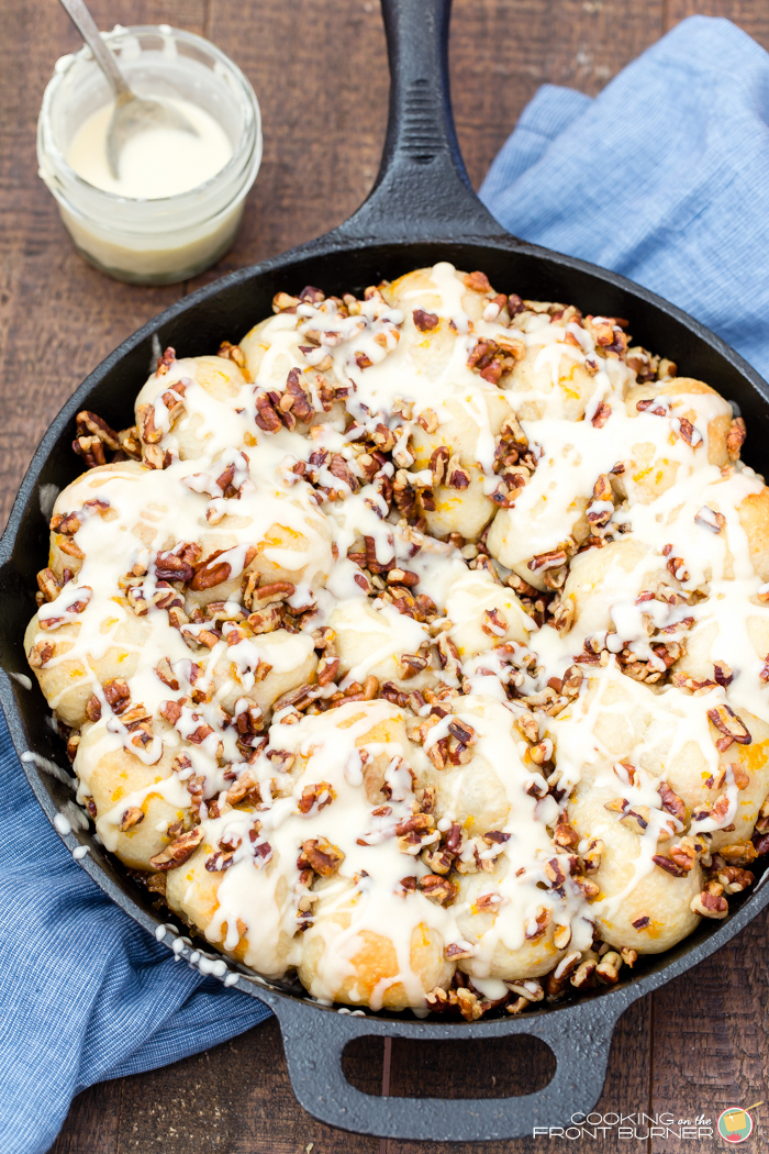 Orange Pecan Pull Apart Rolls | Cooking on the Front Burner