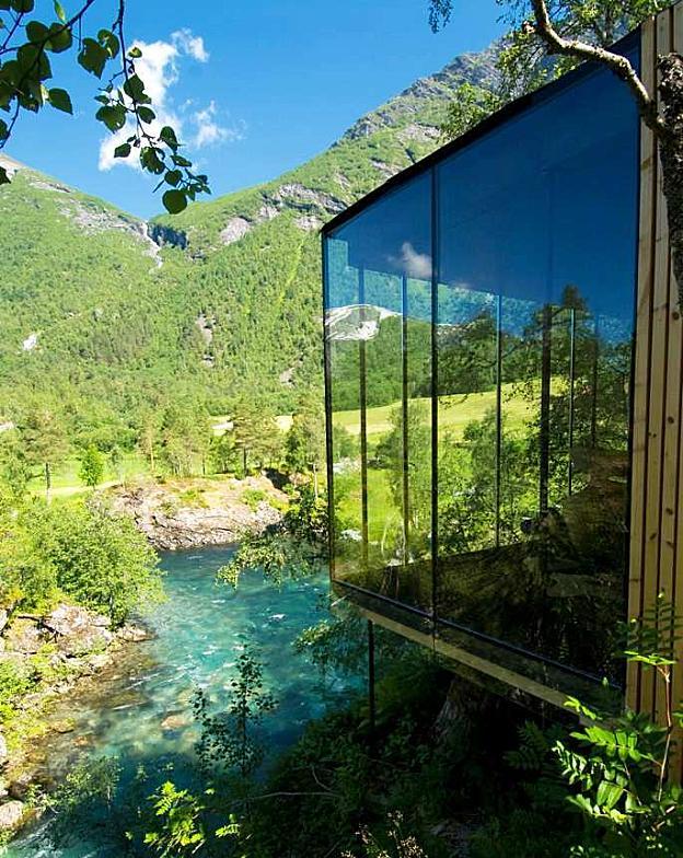le container juvet landscape hotel by jensen skovin jsa architecture lejoz. Black Bedroom Furniture Sets. Home Design Ideas
