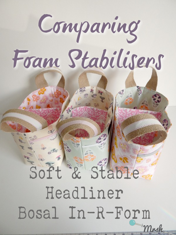 Blog - Foam Stabilisers Comparison Sewing Patterns by Mrs H