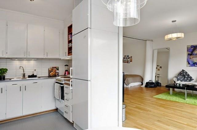 captivating studio apartment one room kitchen   20 Ideas for designing a small studio apartment