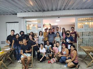 Na cidade de Cacimba de Dentro PB, em visita a família leal, Tiago da EMATER agradece a acolhida