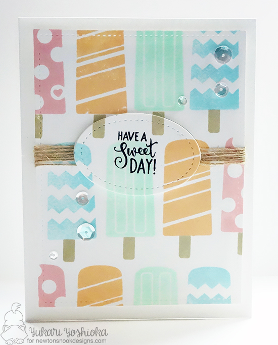 Popsicle card by Yukari Yoshioka | Party Pops Stamp set by Newton's Nook Designs #newtonsnook