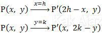 Pencerminan titik P(x, y) terhadap garis x = h dan y = k