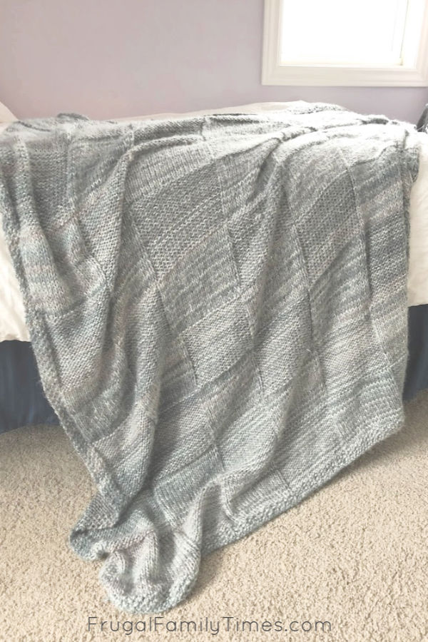 cozy knit throw blanket pattern free