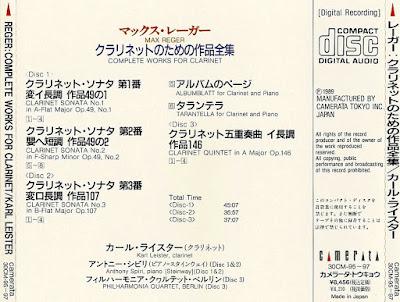 Max Reger - The 3 Viola Suites Op.131d - Violin Sonata Op.91 No.7