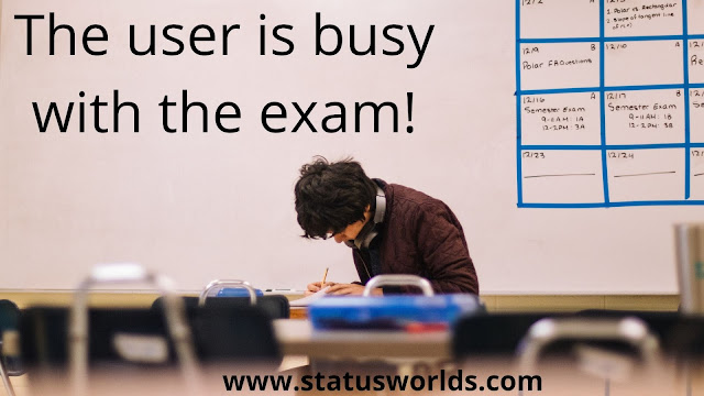 Exam Status, Quotes And Wishes