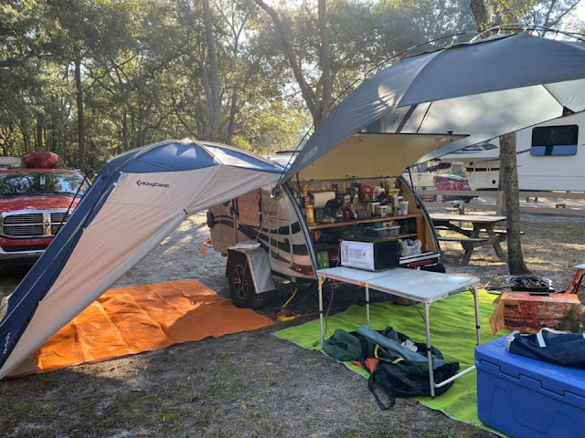 tiny teardrop trailer camping