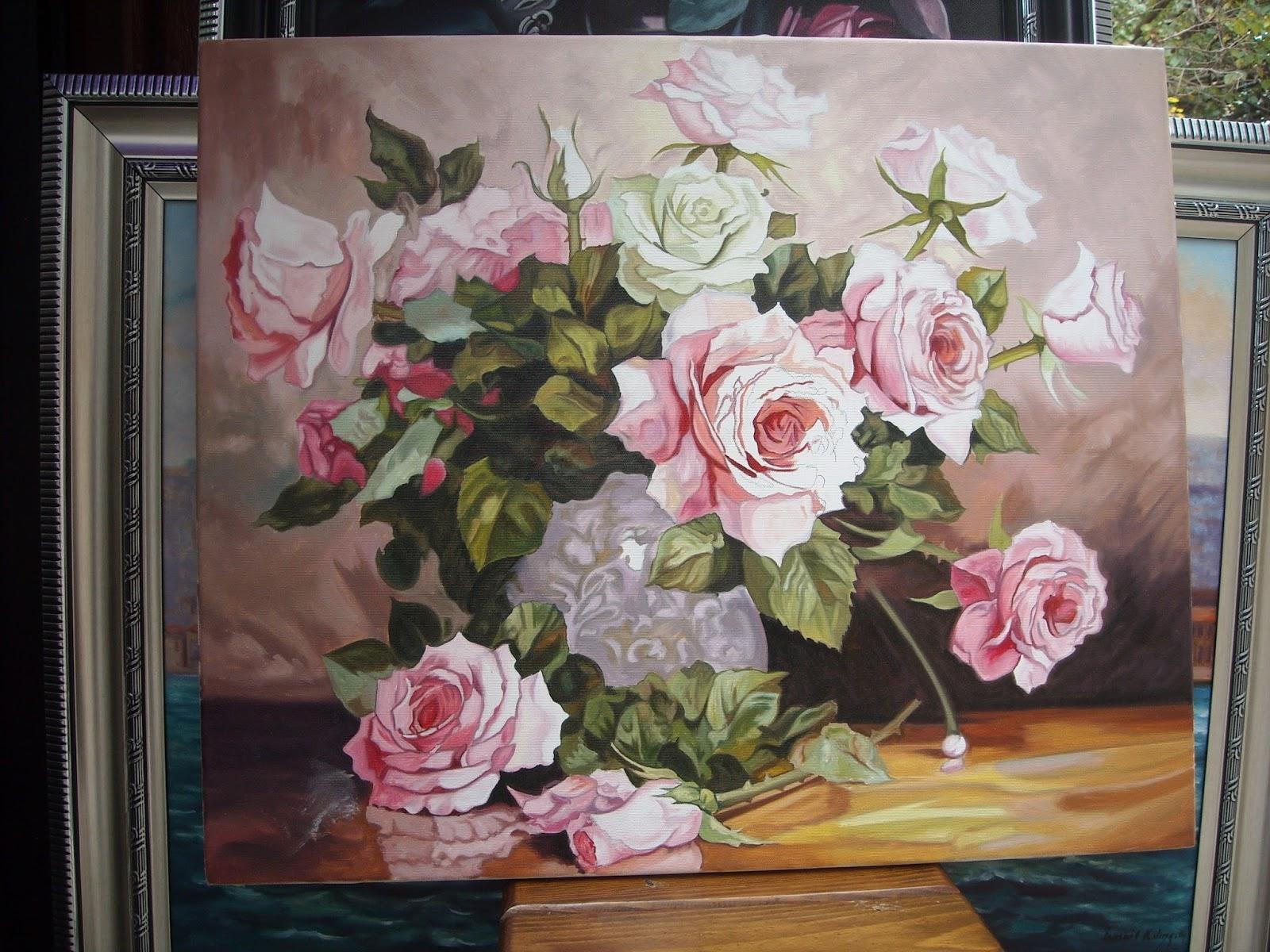 yagliboya cicek tablolari ornekleri-yaĞli boya tablo satin al 0536