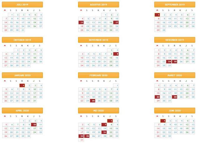Kalender Pendidikan Tahun Ajaran 2019/2020 Provinsi Kepulauan Riau