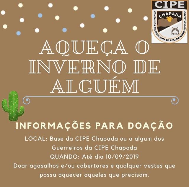 Cipe Chapada inicia campanha do Agasalho e arrecada itens até 10 de Setembro