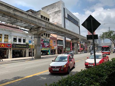 Outside the Hilton Garden Inn Kuala Lumpur