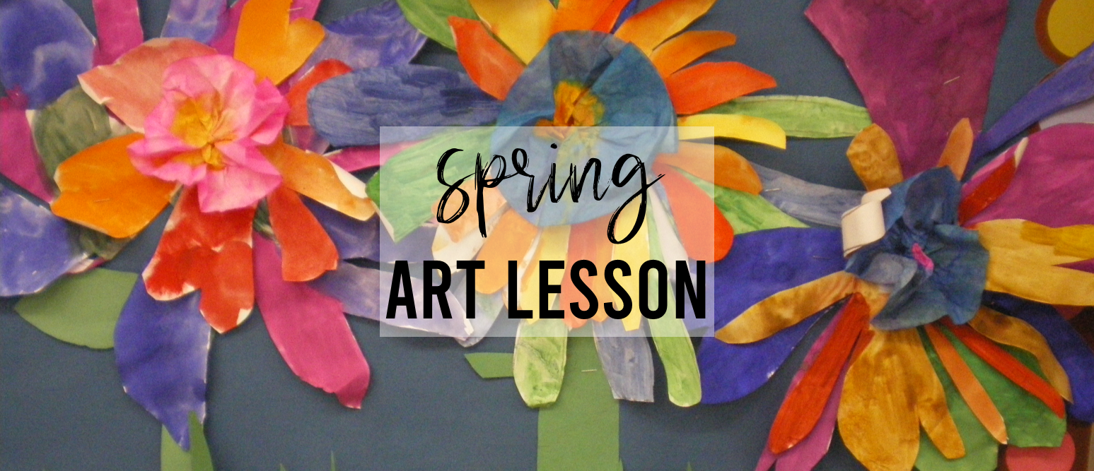Spring art activity for Kindergarten- making flowers using warm and cool colors. Art lesson ideas and craftivities for hands on learning. #kindergarten #kindergartenart #art