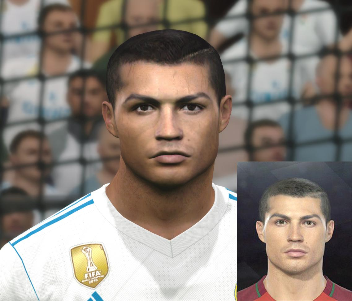 PES 2018 Ronaldo Face For Pes 2017 by NaniLincol44