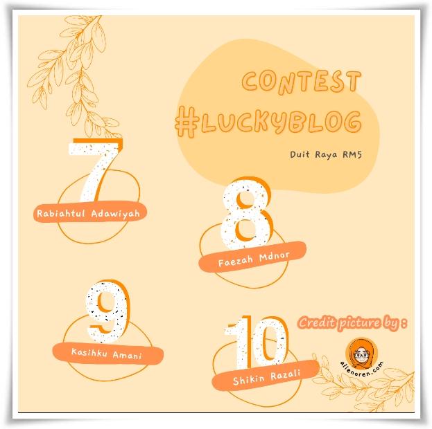 Menang Contest #luckyblog by AO | Terima kasih