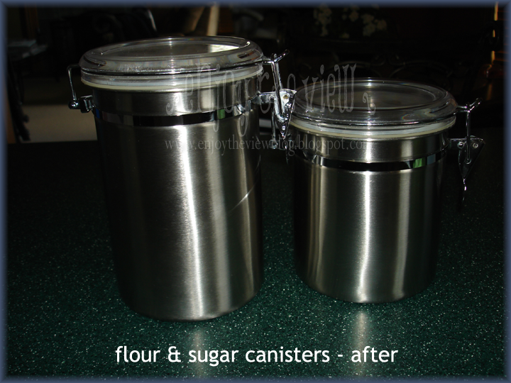 clean metal canisters