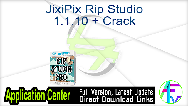 JixiPix Rip Studio 1.1.10 + Crack
