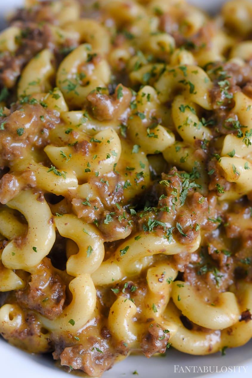 Cheeseburger Macaroni in the Instant Pot #Cheeseburger #Macaroni #Instantpot #Instantrecipe #Easyrecipe #Dinnerrecipe #Vegan