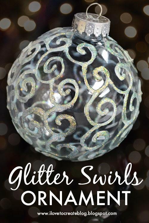 Glitter Swirls Ornament Diy Ilovetocreate