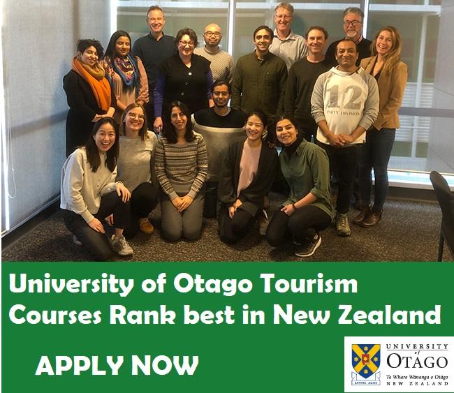 Otago top tourism courses in New Zealand