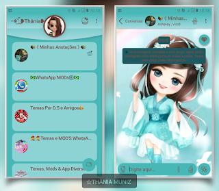 Baby Girls Theme For YOWhatsApp & Fouad WhatsApp By Thânia Muniz