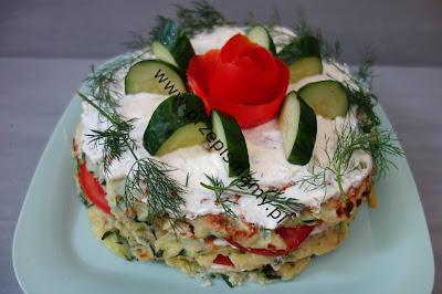 Tort warzywny z cukinii