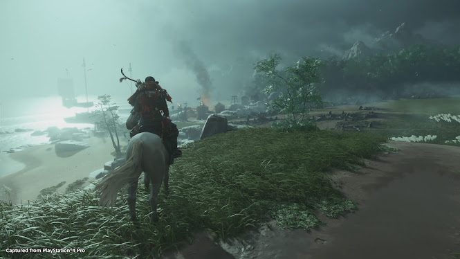 Ghost of Tsushima jin and hors back riding