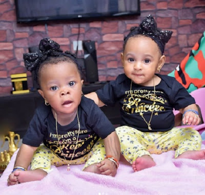 Adorable Photos Of Alaafin of Oyo's 5-Month-Old Twin Babies