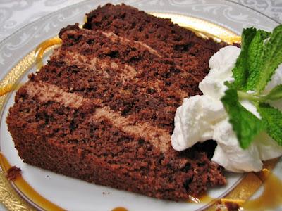 Chocolate Hazelnut Cake with Chocolate Hazelnut Mousse Filling