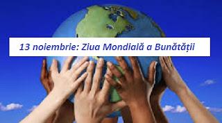 13 noiembrie: Ziua Mondială a Bunătății