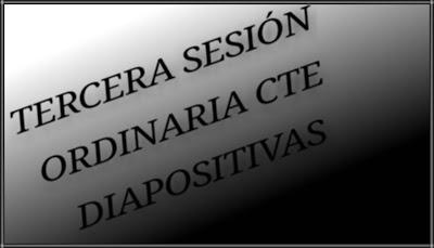 CTE- TERCERA SESIÓN ORDINARIA-DIAPOSTIVAS - EB