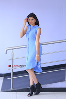Telugu Actress Mounika UHD Stills in Blue Short Dress at Tik Tak Telugu Movie Audio Launch .COM 0030.JPG