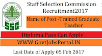 17572 TGT Posts Under Staff Selection Commission Recruitment 2017