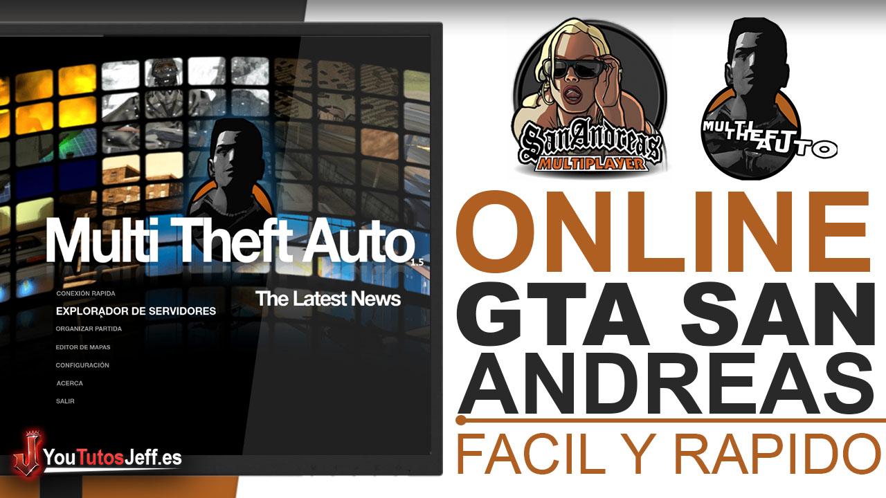 Como JUGAR GTA SAN ANDREAS ONLINE - Fácil y Rápido